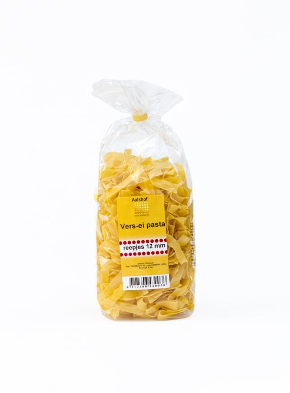 De Aalshof reepjes 12 mm ei-pasta 500 gram