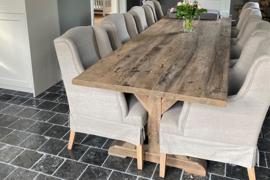 Eettafel met kruispoot 260x100 cm