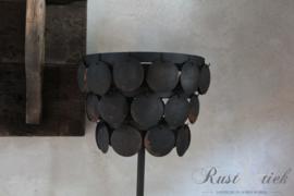 Staande schijfjeslamp zwart