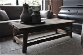 Oud houten salontafel 150x70 cm
