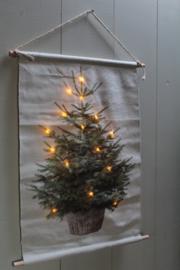 Decoratiedoek kerstboom met lichtjes
