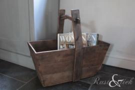 Oude houten bak