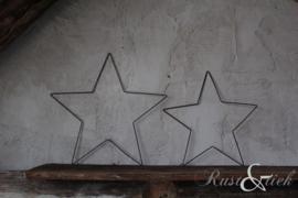 Stalen ster zwart 40 cm