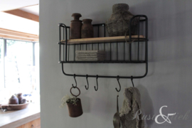 Keukenrek/ wandrek zwart