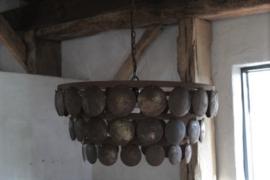 Hanglamp schijfjes roest 50 cm