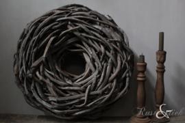 Stoere krans grijs 48 cm