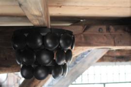 Plafonnière schijvenlamp zwart 35 cm