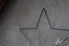 Stalen ster zwart 50 cm