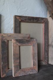 Oud houten fotolijst 13x18 cm