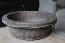 Oude houten olijfbak 42 cm