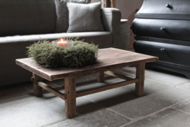 Oud houten salontafel 97 cm