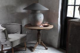 Oude houten wijntafel 80 cm