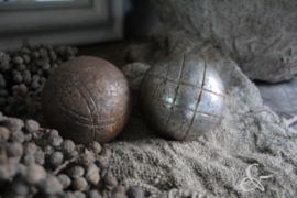 Oude jeu des boules bal zilverkleurig