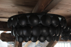 Plafonnière schijvenlamp zwart 70 cm