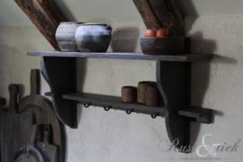 Houten keukenrek
