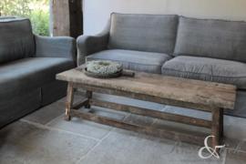 Oud houten salontafel 150x50 cm