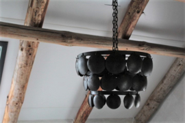 Hanglamp schijfjes zwart 40 cm