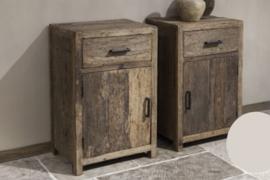 Nachtkastje robuust hout, links
