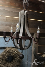 Hanglamp hout roest