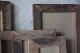 Oud houten fotolijst 10x15 cm