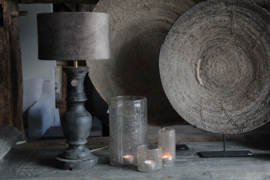 Lamp incl. lampenkap taupe velours