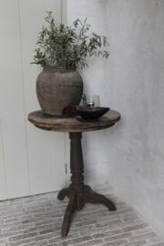Oud houten wijntafel 60 cm