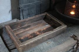 Robuust houten dienblad