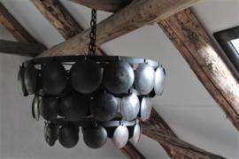 Hanglamp schijfjes zwart 50 cm