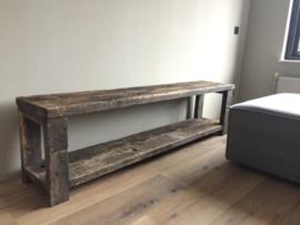 Eiken wagondelen tv meubel -Milou-