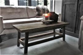 Oud houten salontafel 120x50 cm