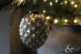 Kerstbal zilver/goud