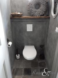Betonlook in het toilet