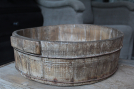 Oude houten olijfbak 45 cm