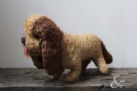 Brocante knuffelbeer, hondje