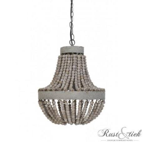 Hanglamp met houten kralen