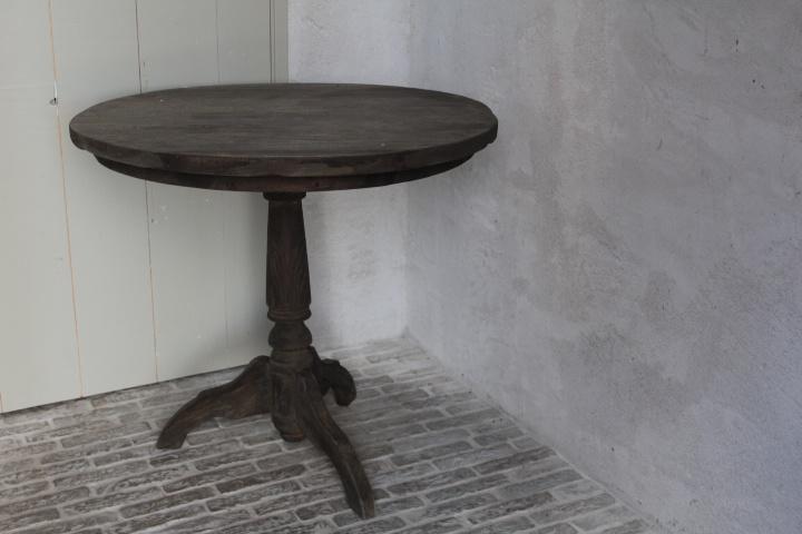 Oud houten wijntafel 81,5 cm