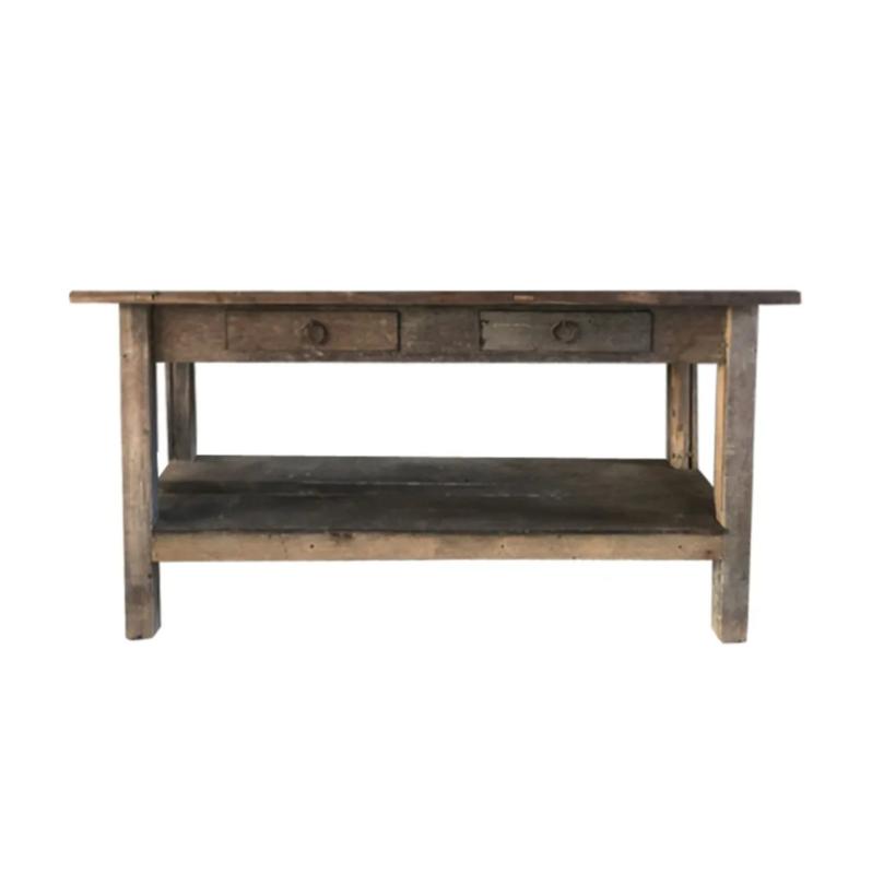 Oud houten sidetable
