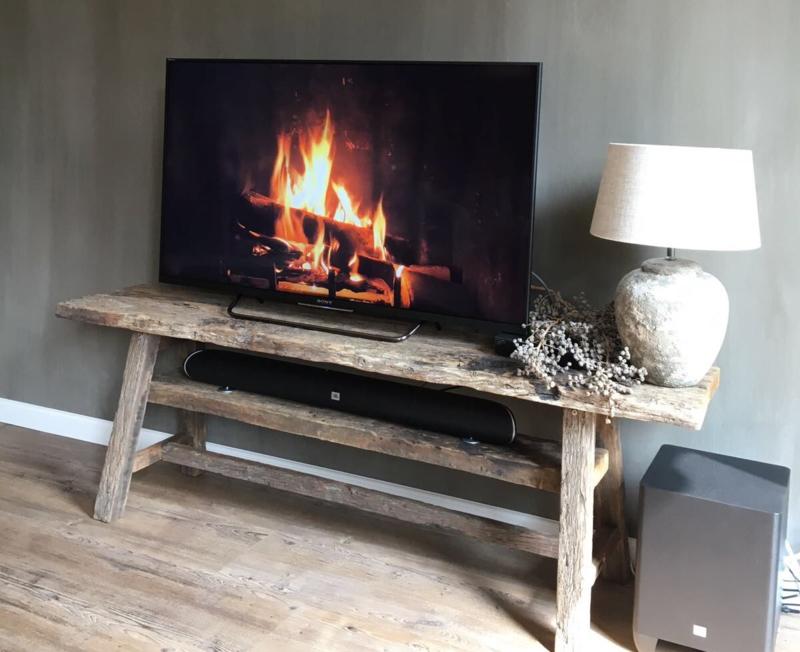 Tv Kast Salon Tafel.Eiken Wagondelen Tv Meubel Lieke Salontafels En Tv Meubels Van