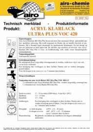 Airo HS Blanke lak Ultra Plus 2:1 - 1ltr