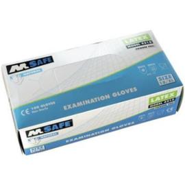 M-Safe latex ongepoederde handschoen