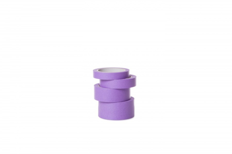 Washi Tape rijstpapier PURPLE 50mm x 50m