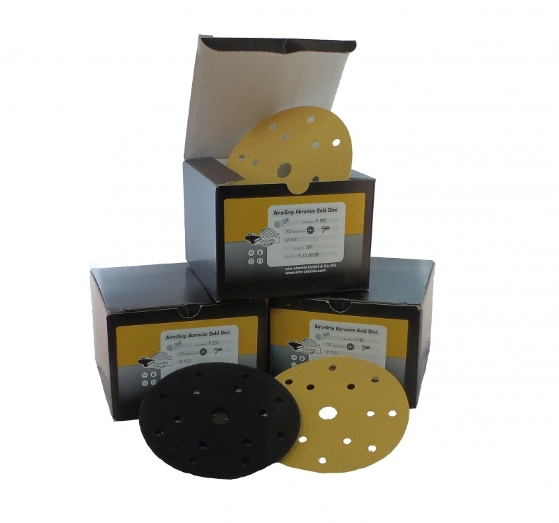 Airo Grip Abrasive GOLD disc 150mm