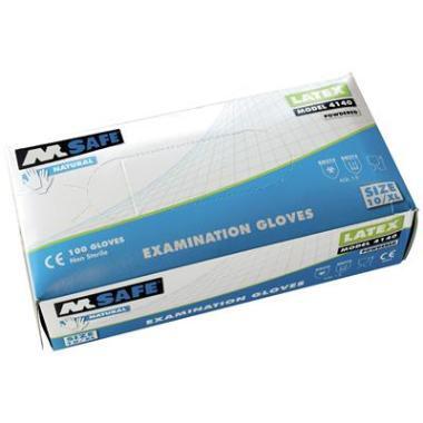 M-Safe latex gepoederde handschoen