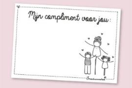 Complimentenblokje Juf