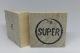 Houten magneet SUPER