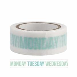 Masking Tape Weekdays Aqua