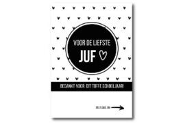 Invulkaart Juf Z/W
