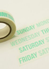 Masking Tape Weekdays Aqua