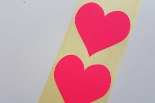 Heart neon pink