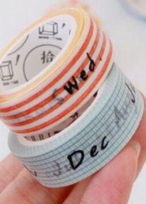 Masking Tape Months Aqua